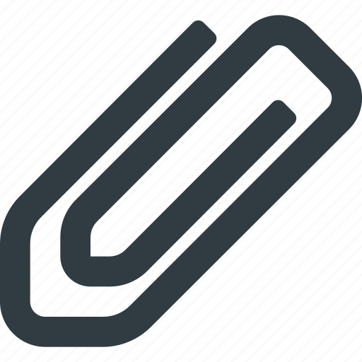 attache, clip, document, mail, office, paper icon