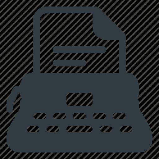 keyboard, office, type, typewriter, writer icon