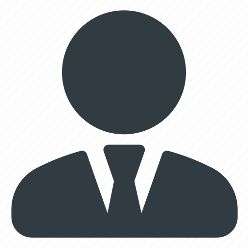 business, office, person, siute, user icon