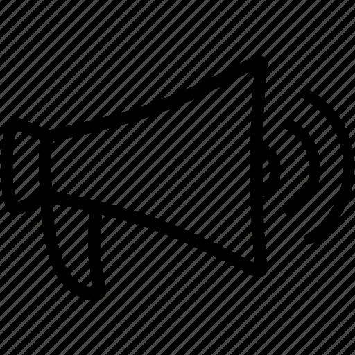 bullhorn, loudspeaker, megaphone, sound, speaker, strike, volume icon