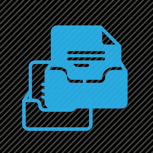 archive, box, contain, office icon
