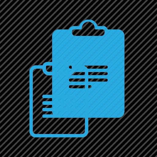 board, clip, clipboard, document, note, office icon