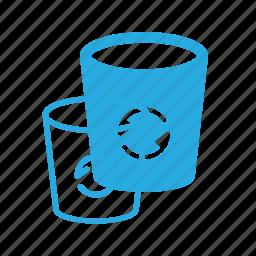 bin, can, garbidge, office, recycle, trash icon