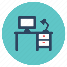 cabin, desk, office, study table, table icon