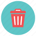 dustbin, garbage, office, wastebin icon