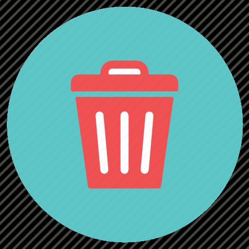dustbin, garbage, office, wastebin icon