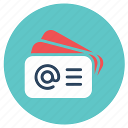 card, office, visiting icon