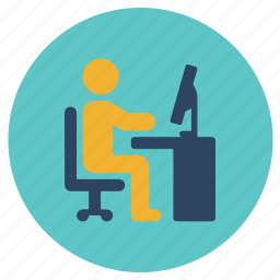 office, officer, worker, working icon