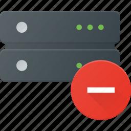 data, database, remove, server, storage icon