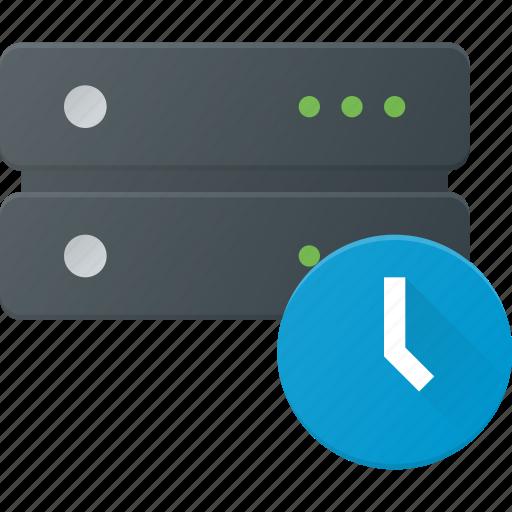 data, database, server, storage, time, timeout icon