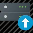 data, database, server, storage, upload icon