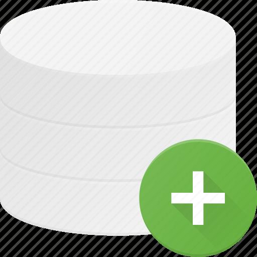 add, data, database, server, store icon