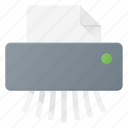 cute, document, office, paper, shredder icon