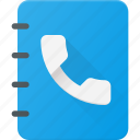 address, book, contact, note, office, phone icon