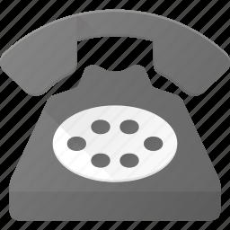 office, old, phone, retro, telephone icon