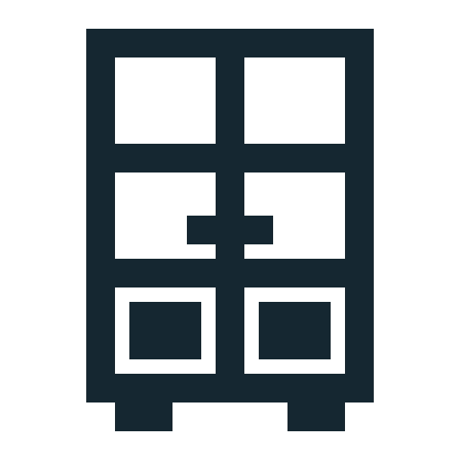 archive, cabinet, cupboard, drawers, glass, office icon