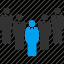 clerk, departament, department, people, staff, team, workers icon