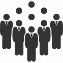 crowd, group, men, people, staff, team, users icon