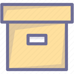archive, box, document, files, material icon