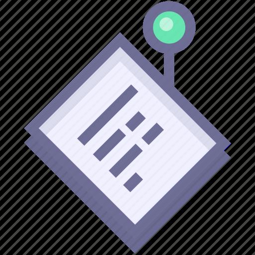 alarm, memory, notes icon