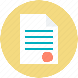 agreement, agreement paper, business deal, contract, stamped paper icon