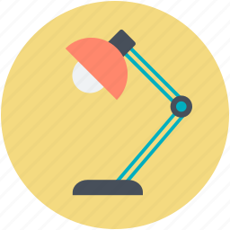 desk lamp, electricity, light, office equipment, table lamp icon