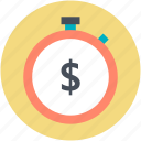 countdown, dollar symbol, savings, tax reminder, time stopwatch icon