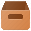 archive, box, contain, office
