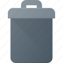 bin, can, garbidge, office, recycle, trash icon