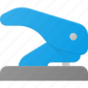office, paper, perforate, perforator, puncher icon