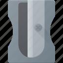 office, pencil, sharpener, sharper, tool icon