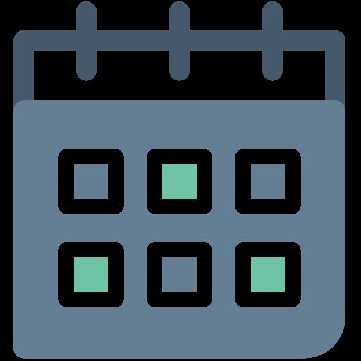 Calendar, general, month, month calendar, office, schedule, wall calendar icon - Free download