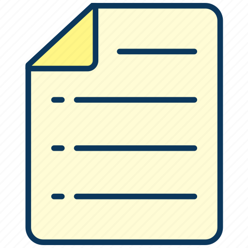 document, list, paper, sheet icon