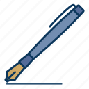 fountain pen, pen, signature, writing icon