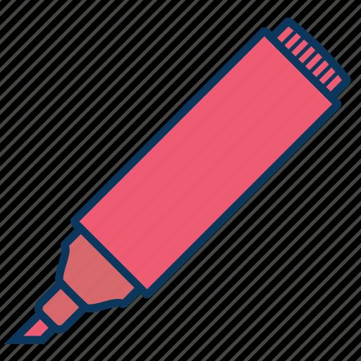 bookmark, calligraphy, felt pen, marker icon
