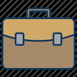 briefcase, business, businessman, case, document, suitcase icon