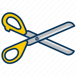cut, cut paper, cutting, haircut, scissors icon