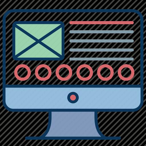 computer, design, display, imac, pc, wireframe icon