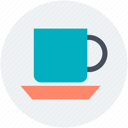 cup with saucer, hot coffee, hot drink, hot tea, teacup icon