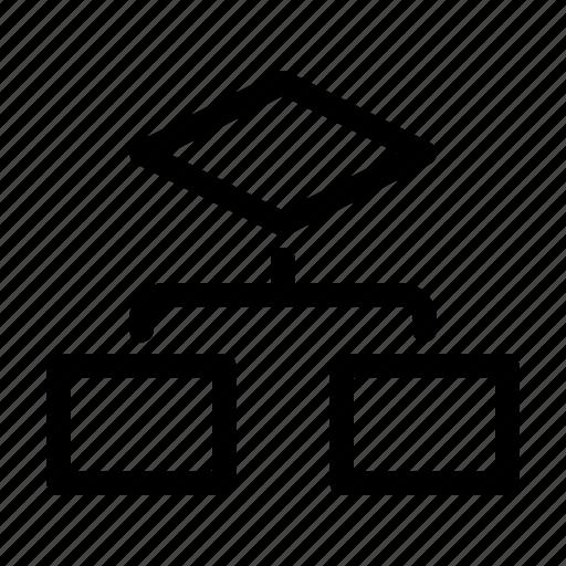 chart, diagram, flow, flowchart, sitemap icon
