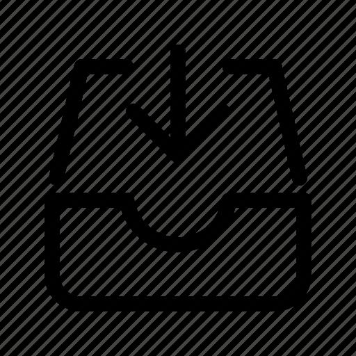 add, arrow, email, inbox, new icon