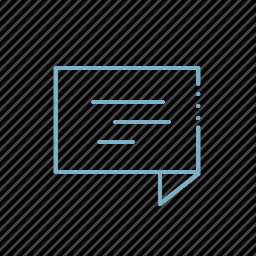 bubble, comment, communication, email, envelope, message, notification icon