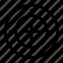 aim, focus, shoot, shot, target icon