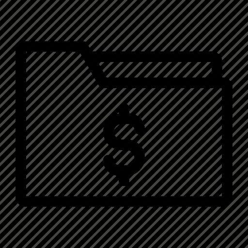 data, earn, file, folder, money icon