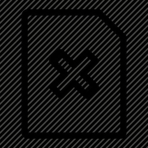 cancel, close, delete, quit, remove icon