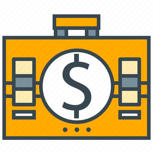 accounting, business, finance, money, office, suitcase icon