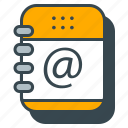 address, book, business, notebook, office icon