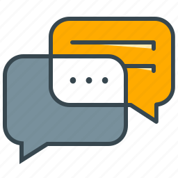 bubble, business, chat, communication, dialogue, office, talk icon