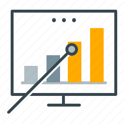analytics, business, chart, graph, office, presentation, statistics icon