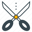 business, cutting, office, scissor, scissors, tool icon